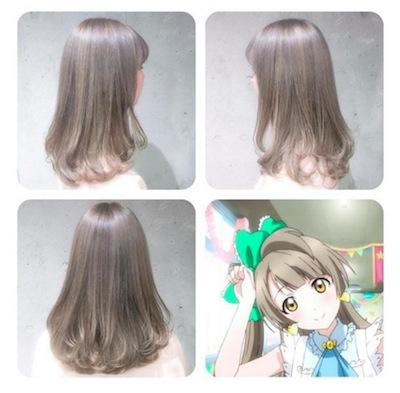 ことりベージュ』という髪色をオーダーすると『ラブライブ!』ことりちゃんのヘアカラーを再現してくれる美容院があるらしい!再現度すげぇ! | にじぽい