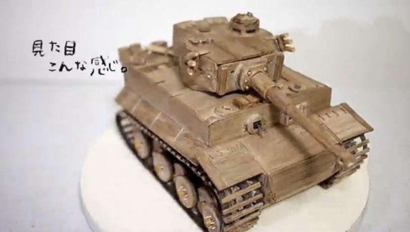 木とかで、ティーガー戦車作りました。【ガルパン】_-_ニコニコ動画_GINZA