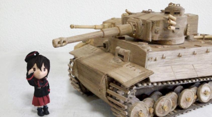 木とかで、ティーガー戦車作りました。【ガルパン】_-_ニコニコ動画_GINZA 7